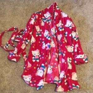 Hello Kitty bathrobe NWOT